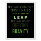 Defying Gravity Word Poster