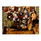 Degas - A Woman Seated Beside a Vase of Flowers Postcard