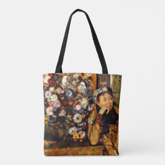 Degas - A Woman Seated Beside a Vase of Flowers Tote Bag