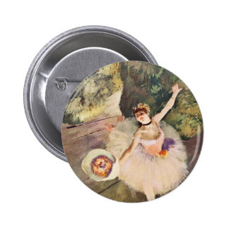 Degas Ballerina with a Bouquet of Flowers button