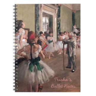DEGAS BALLET ART, VINTAGE BALLET CLASS NOTEBOOK