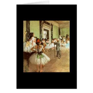 Degas - Ballet Dance Class Card