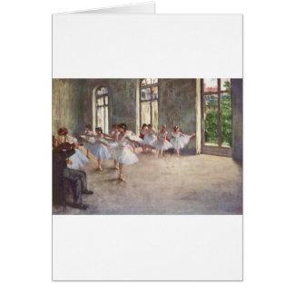 Degas Ballet Dancers Card