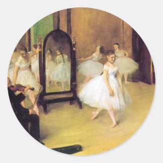 Degas Ballet Dancers Classic Round Sticker