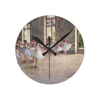 Degas Ballet Dancers Round Clock
