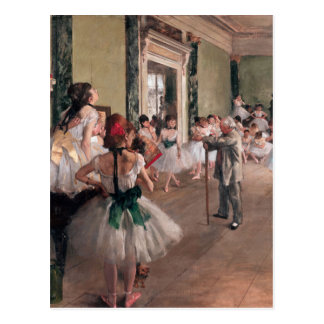 Degas Ballet Painting, Old Ballet class Postcard