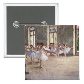 Degas' Ballet Rehearsal 2 Inch Square Button