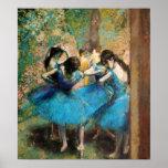 Degas Blue Dancers Poster
