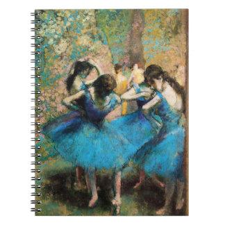 Degas Blue Dancers Spiral Notebook