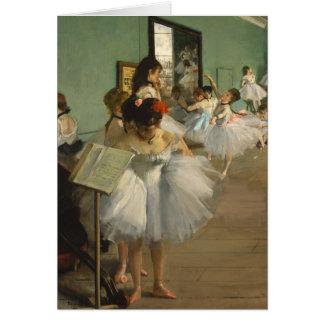 Degas Dance Class Ballet Dancers Card