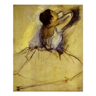 Degas Dancer in Yellow Fine Art Print