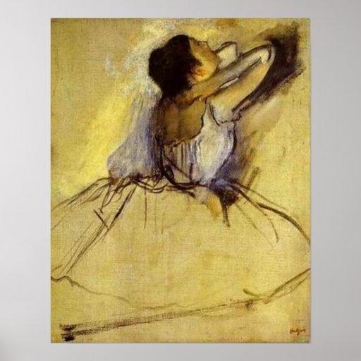 Degas Dancer in Yellow Fine Art Print