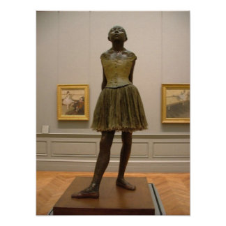 Degas Dancer Sculpture Poster