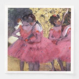 Degas Dancers in Pink Between Scenes Paper Dinner Napkin