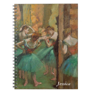 Degas Dancers Pink and Green Notebook