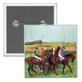 Degas' Horses 2 Inch Square Button