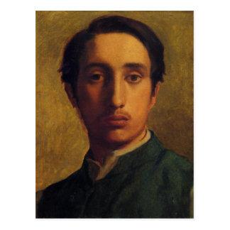Degas in a Green Jacket postcard
