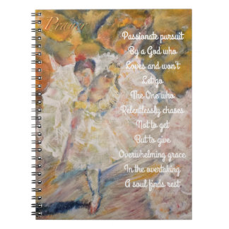 Degas Inspired prayer journal Spiral Note Book