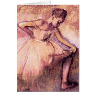 Degas Pink Ballerina Greeting Card