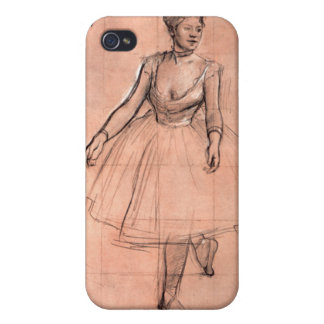 Degas pretty ballerina sketch ballet dancer art iPhone 4 case