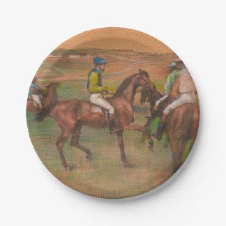 Degas Race Horses Impressionist Paper Plate