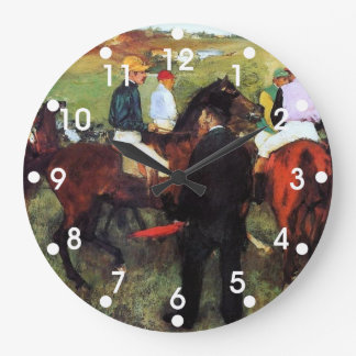 Degas - Racehorses Large Clock