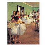 Degas - The Dance Class Postcard