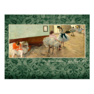 "Degas ""The Dance Lesson"" Postcard"