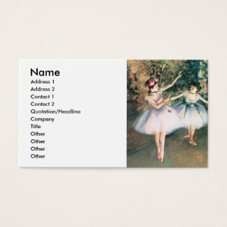 Degas Two Dancers Business Card