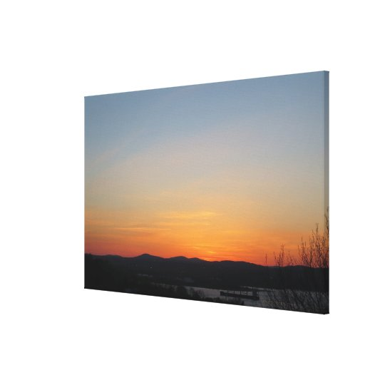 Degraded Sunset Sky Canvas Print