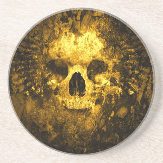 Degrated Skull Drink Coasters