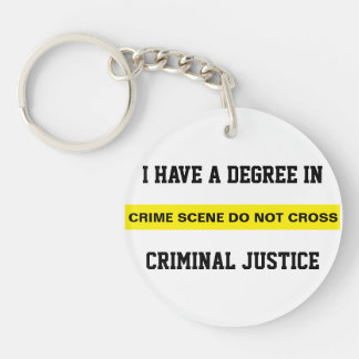 Degree in Criminal Justice Keychain