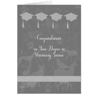 Degree in Veterinary Science Card, Grey Card