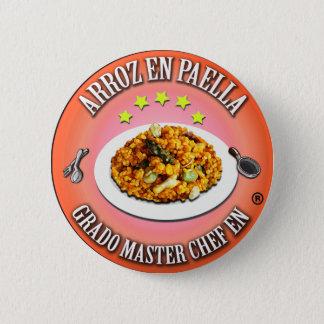 Degree Master Chef in Rice in Paella 2 Inch Round Button
