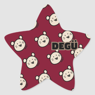 ☆Degu kawaii☆ your lovely degushiru star Star Sticker