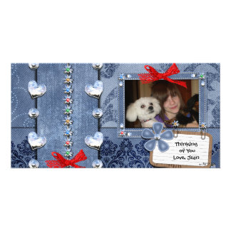 Deim Jeans Girly Greeting Photo Card