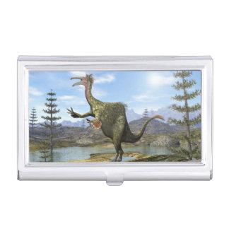 Deinocheirus dinosaur - 3D render Business Card Holder
