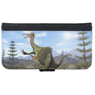 Deinocheirus dinosaur - 3D render iPhone 6 Wallet Case