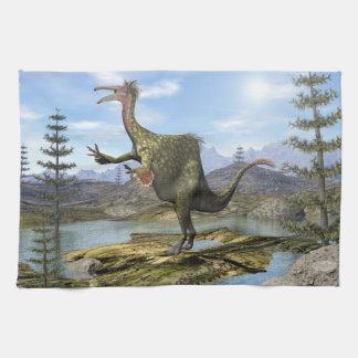 Deinocheirus dinosaur - 3D render Kitchen Towel
