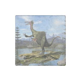 Deinocheirus dinosaur - 3D render Stone Magnets