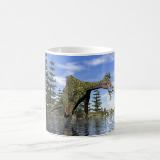 Deinocheirus dinosaur fishing - 3D render Coffee Mug