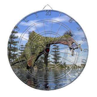 Deinocheirus dinosaur fishing - 3D render Dartboard