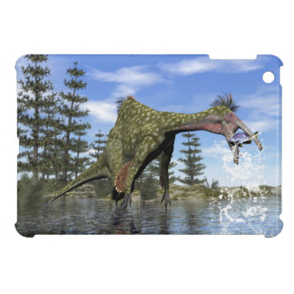 Deinocheirus dinosaur fishing - 3D render iPad Mini Cover