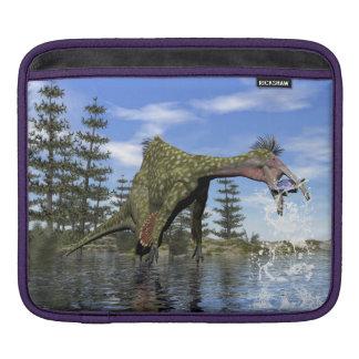 Deinocheirus dinosaur fishing - 3D render iPad Sleeve