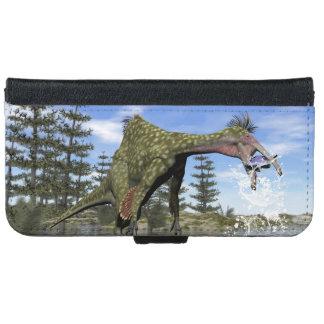 Deinocheirus dinosaur fishing - 3D render iPhone 6 Wallet Case