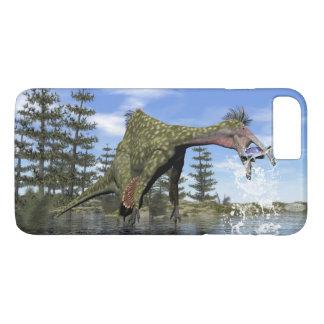 Deinocheirus dinosaur fishing - 3D render iPhone 8 Plus/7 Plus Case