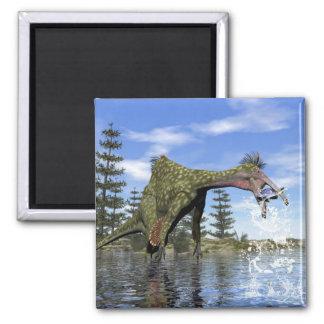 Deinocheirus dinosaur fishing - 3D render Magnet