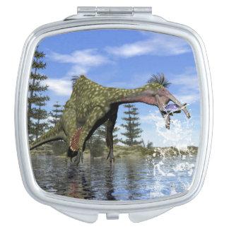 Deinocheirus dinosaur fishing - 3D render Makeup Mirror