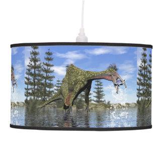 Deinocheirus dinosaur fishing - 3D render Pendant Lamp