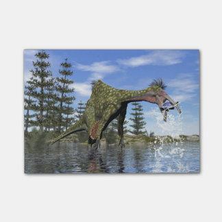 Deinocheirus dinosaur fishing - 3D render Post-it Notes